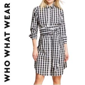 Who what wear long sleeve button front shirt dress